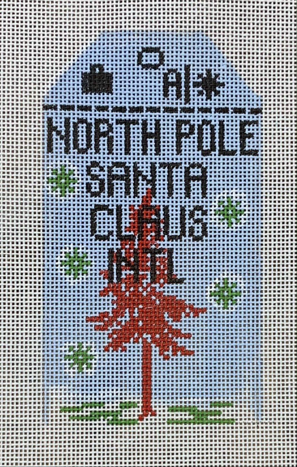 Vintage Luggage Tag - North Pole