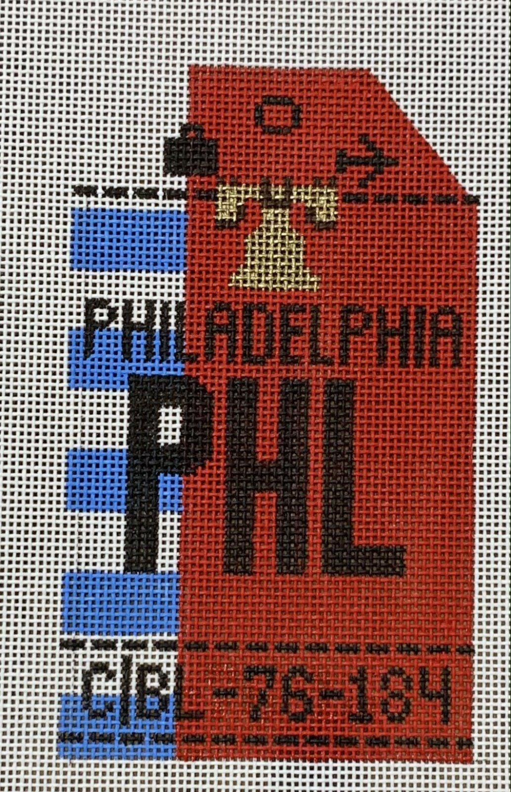 Vintage Luggage Tag - Philadelphia