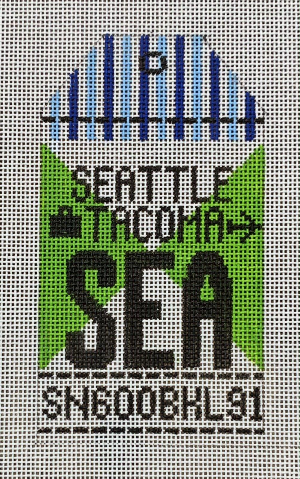 Vintage Luggage Tag - Seattle