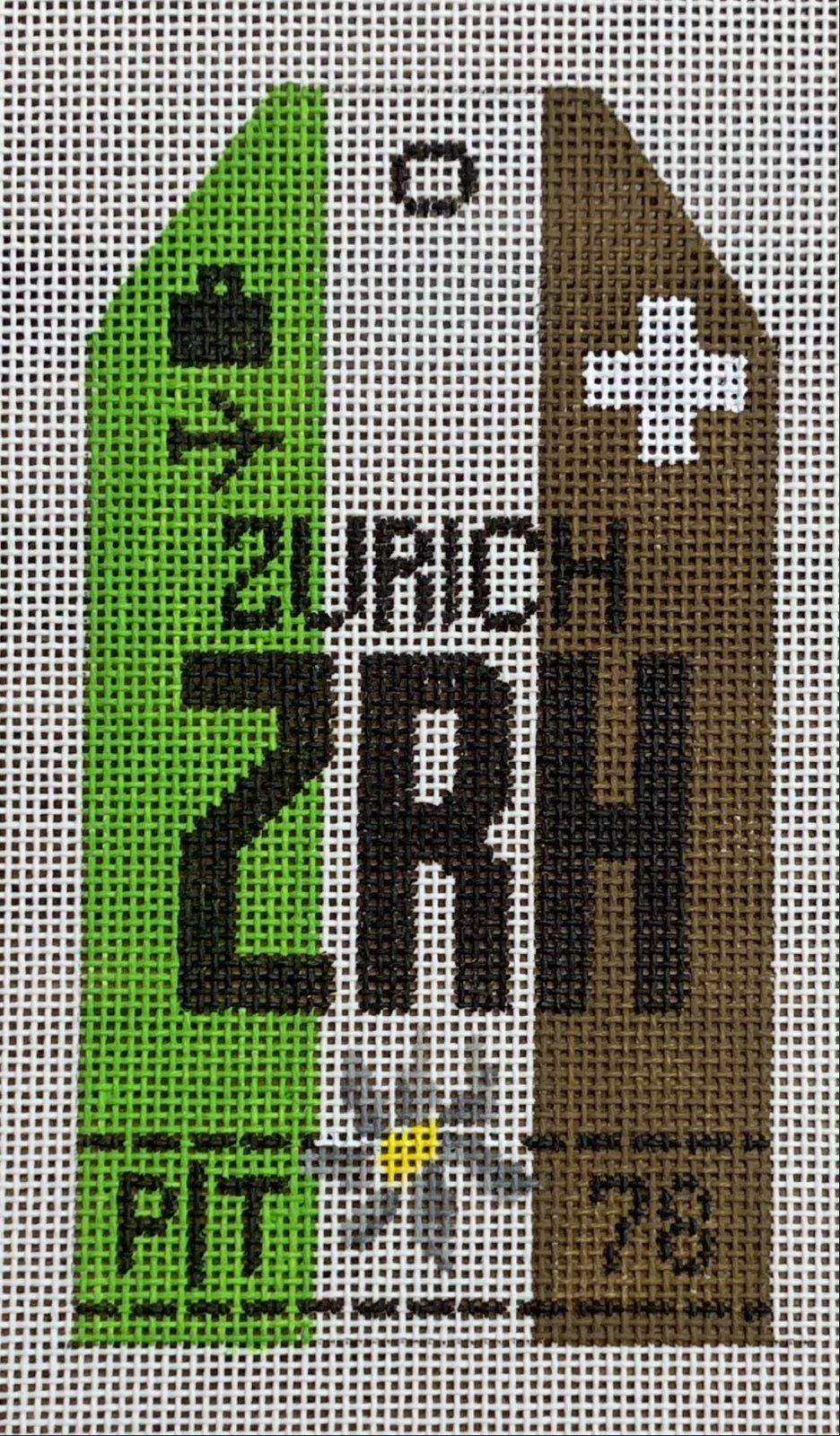 Vintage Luggage Tag - Zurich