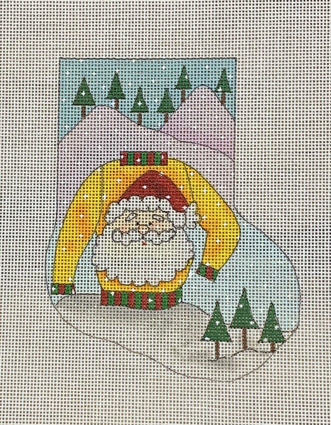 Ugly Sweater Santa Mini Sock