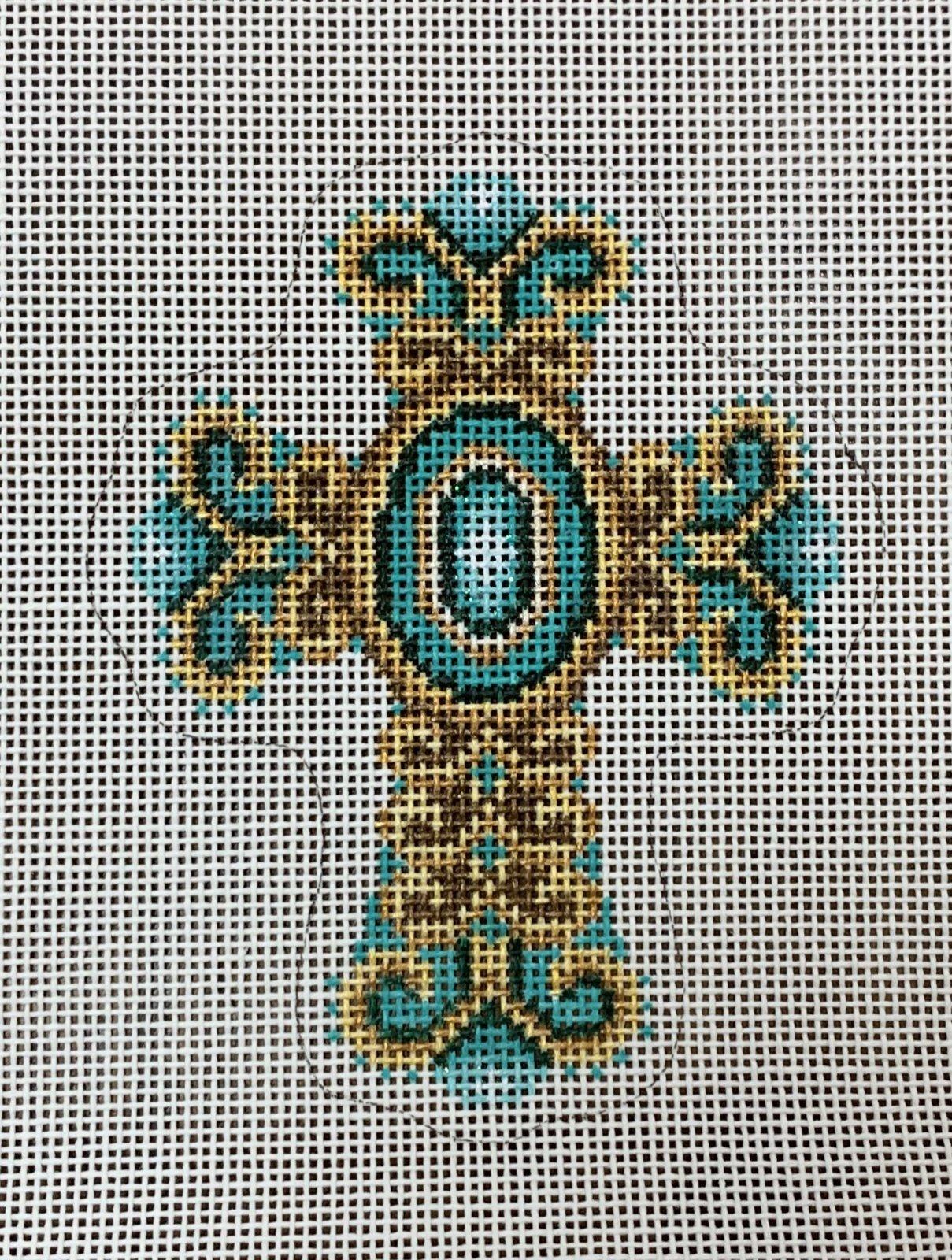 Cross - Aqua Bronze & Gold