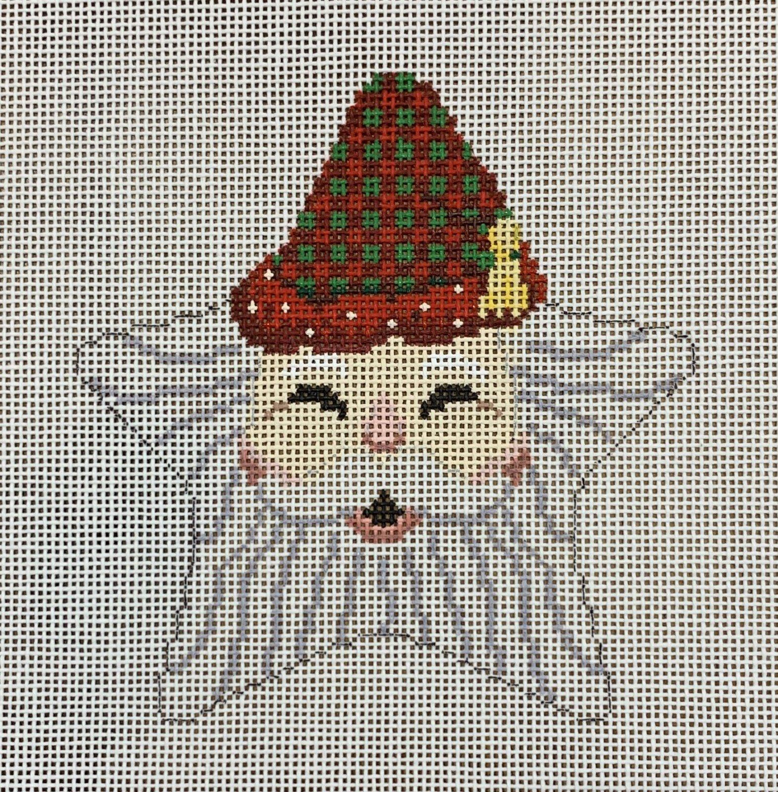Santa Face Star, Checker Hat