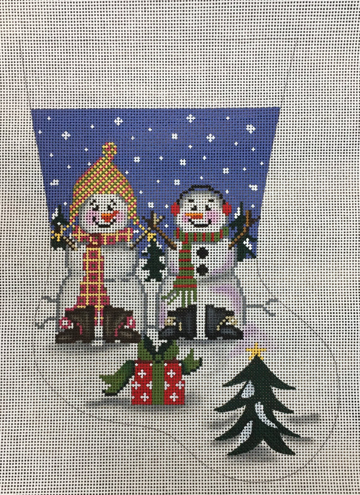 Snowmen w/ Present Stocking