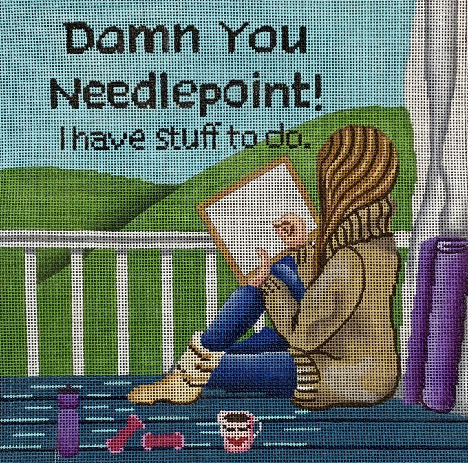 Stitching Girl - Damn You Needlepoint