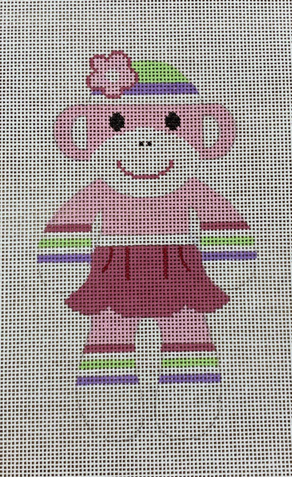 Sock Monkey - Pink Skirt