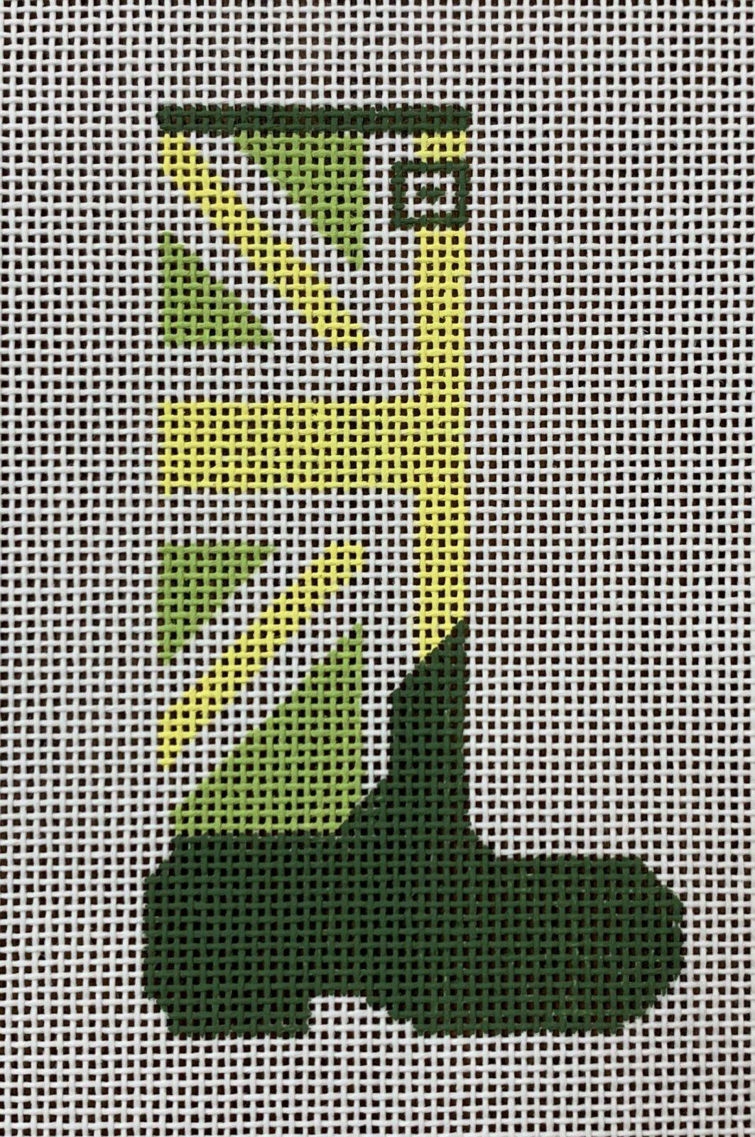 Wellie Union Jack (custard, watercress, green)