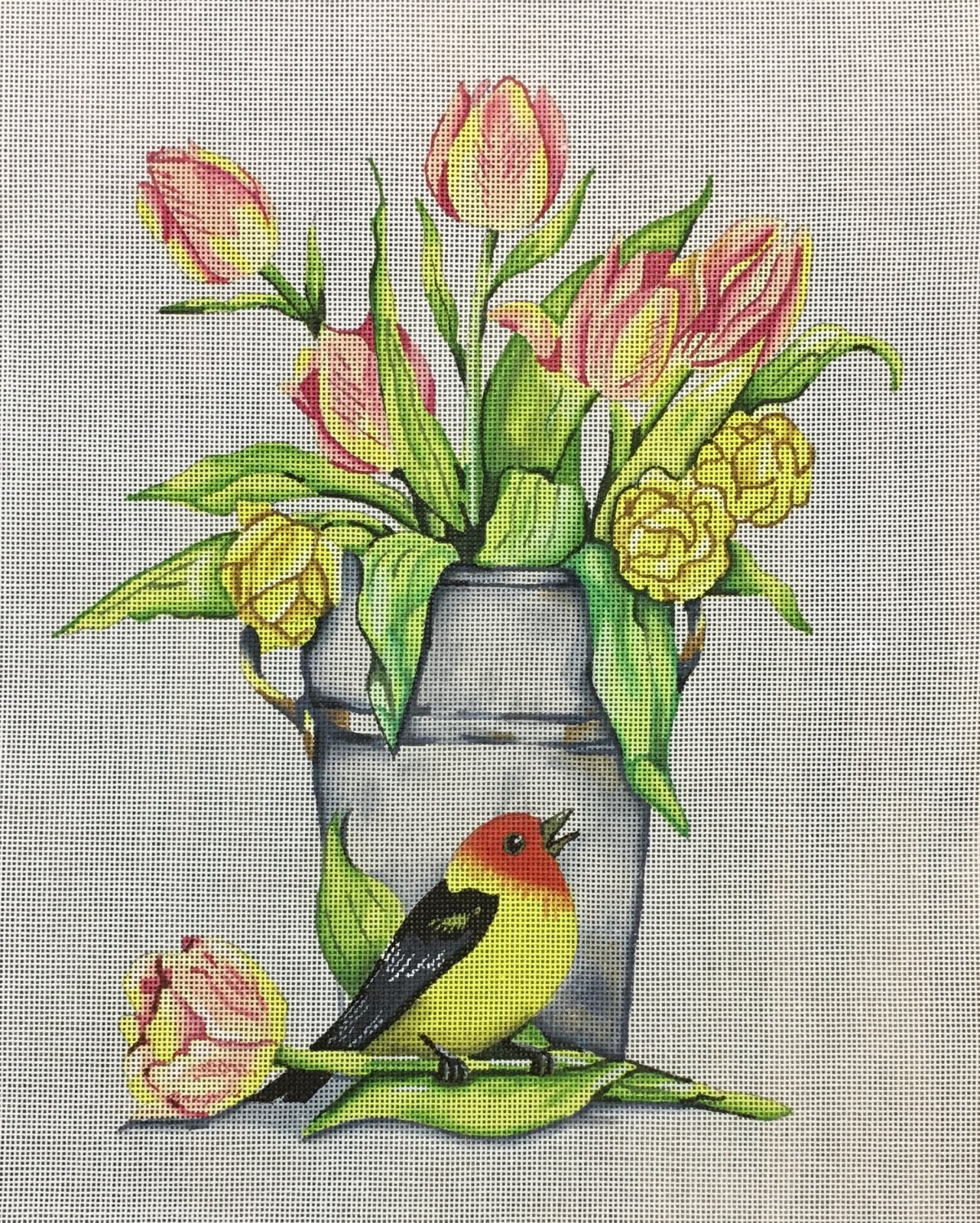 Tulips and Bird