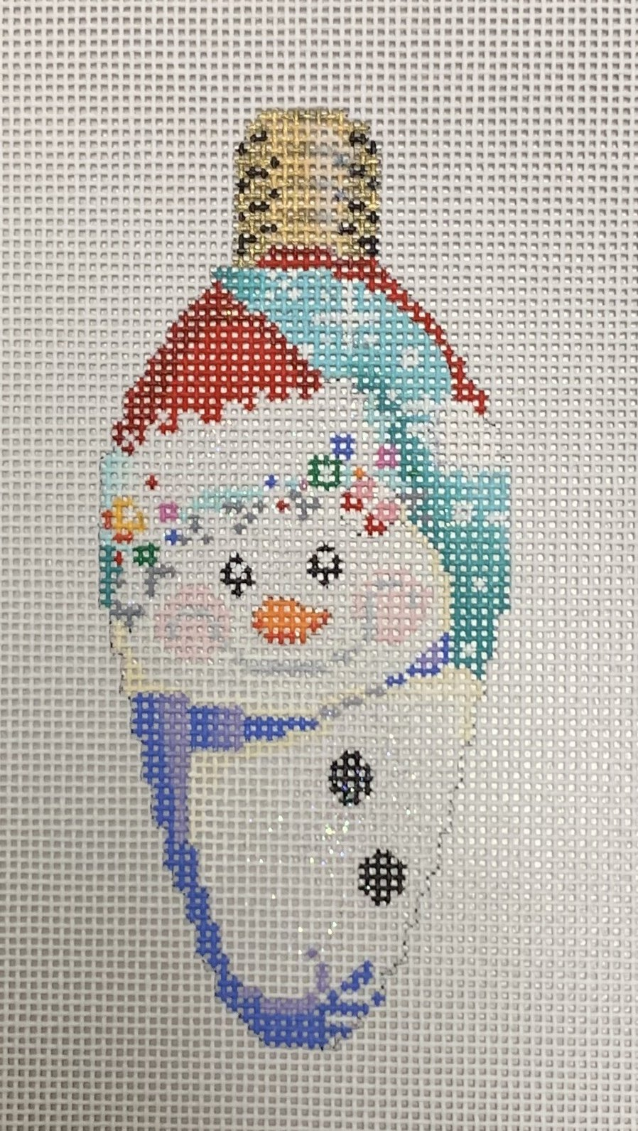 Snowman Cap Christmas Light Bulb