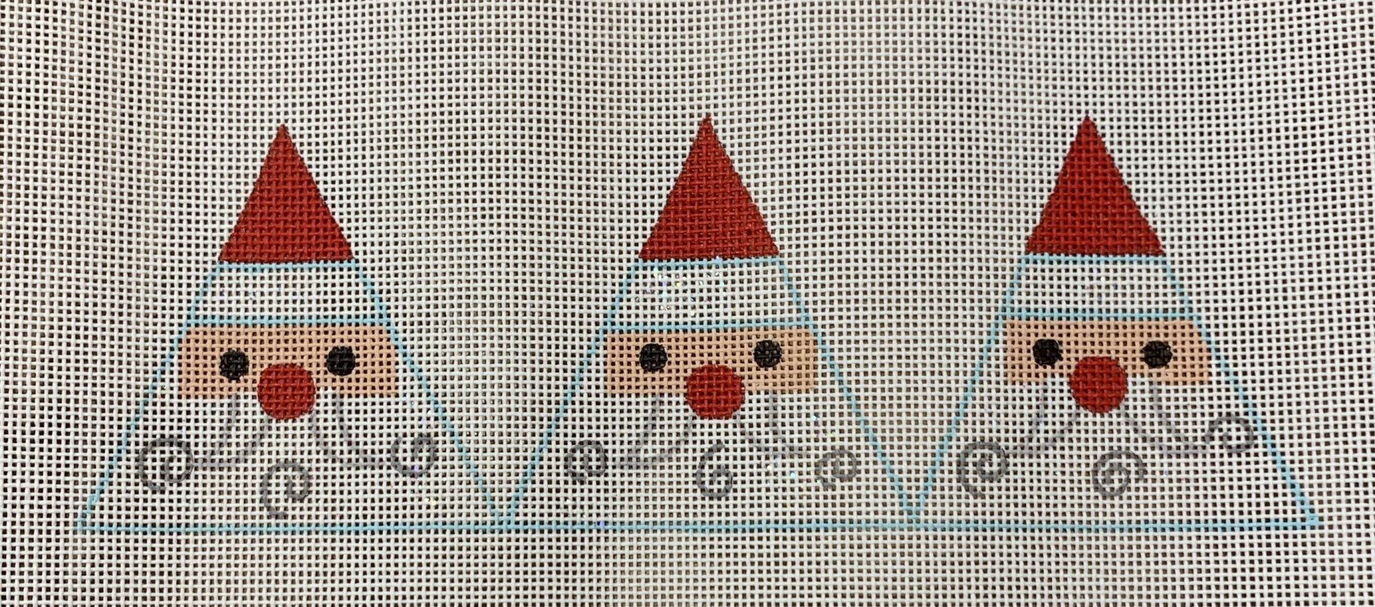 Triangular Santa Face