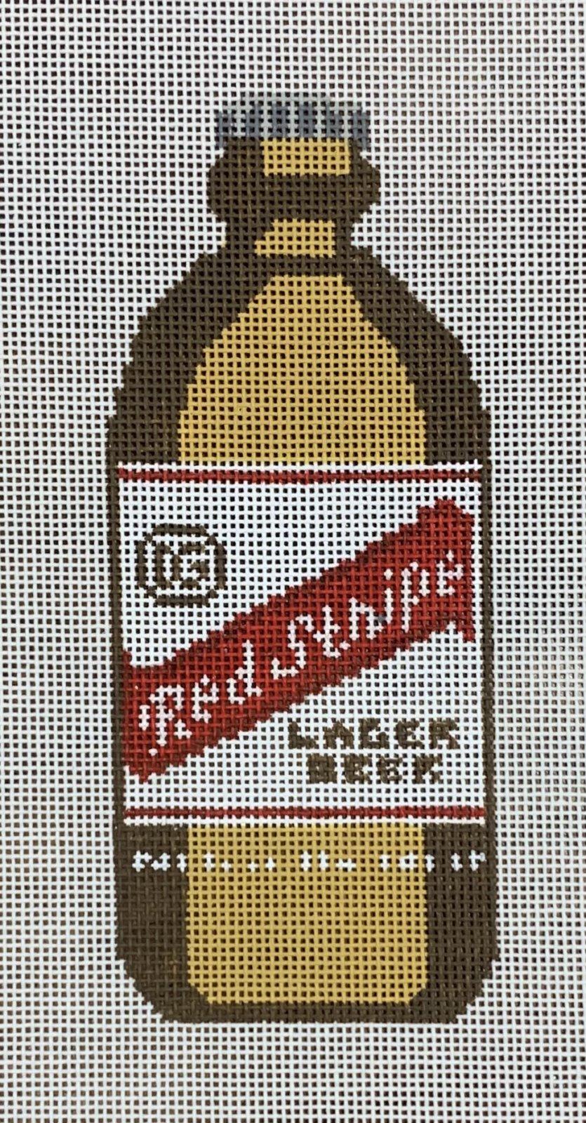 Red Stripe Bottle