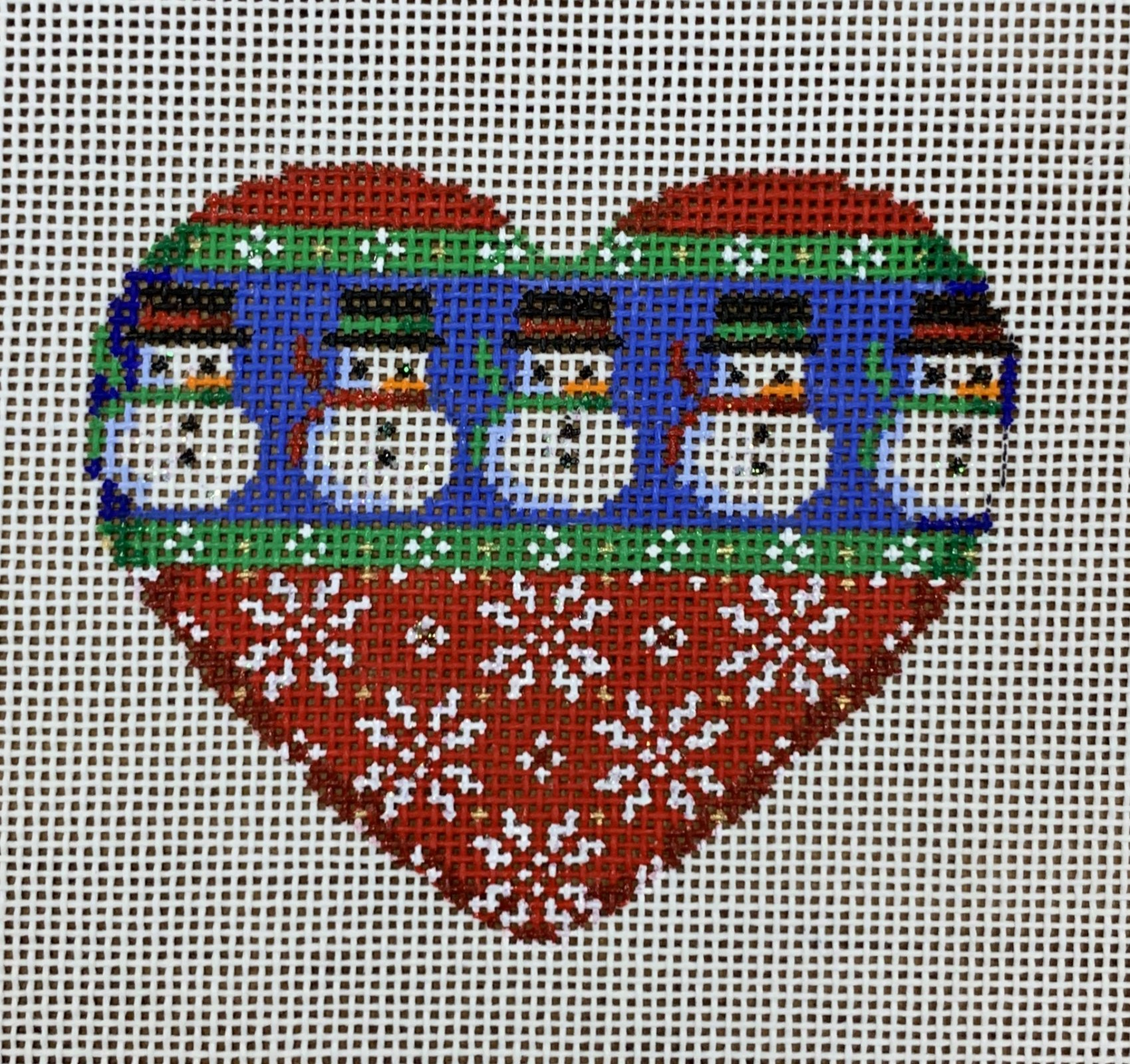ATTSCT1232 Snowmen/Snowflakes Heart  3.5x3  18