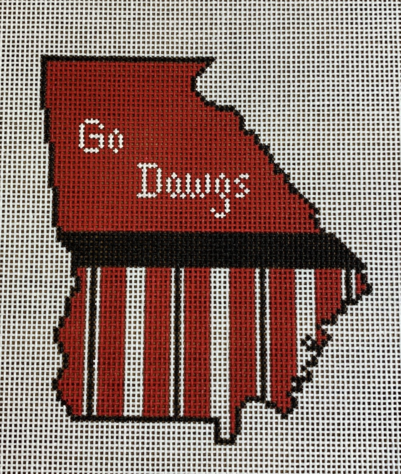 Georgia State Shape Go Dawgs