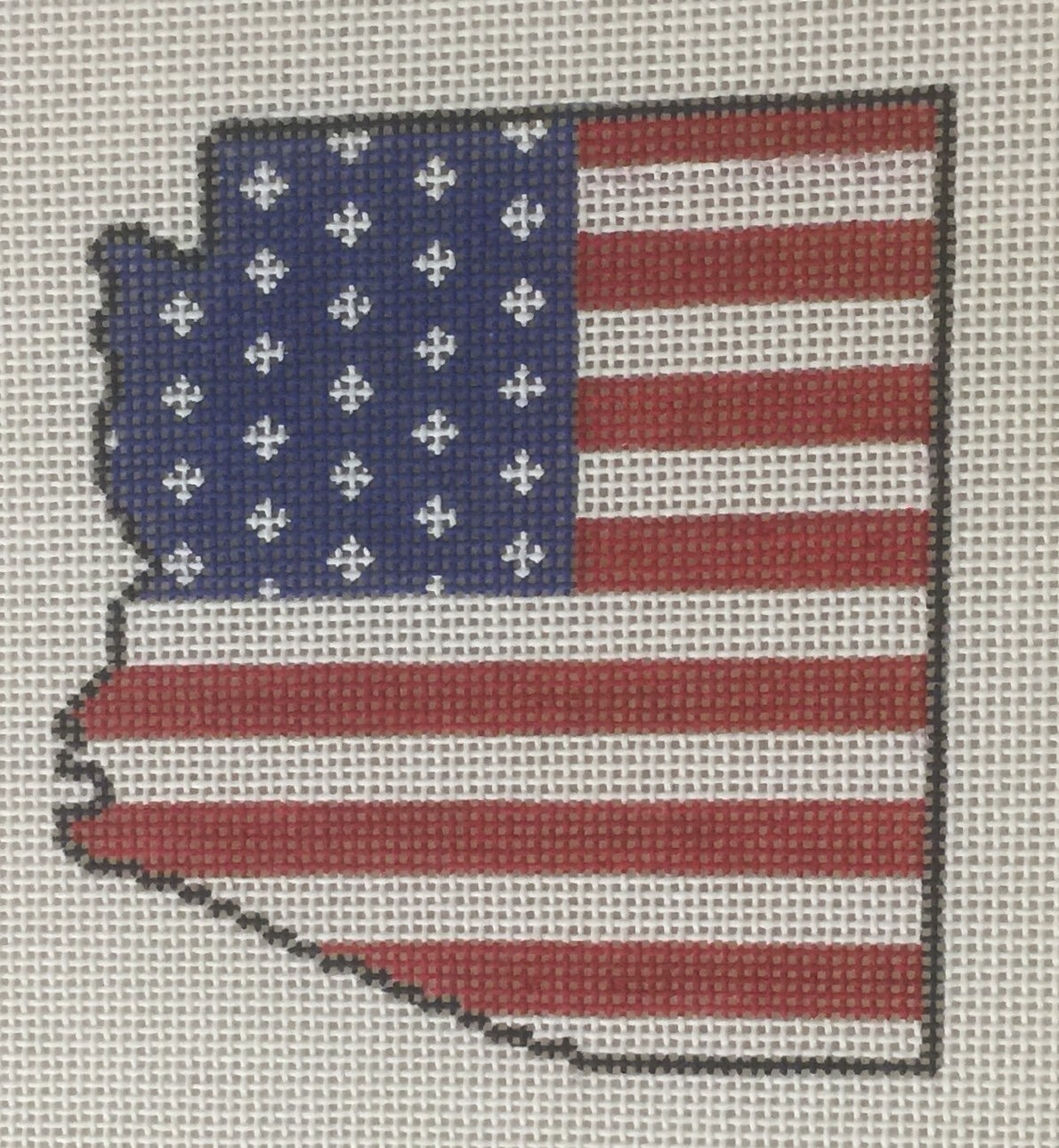 Arizona State Shaped US Flag