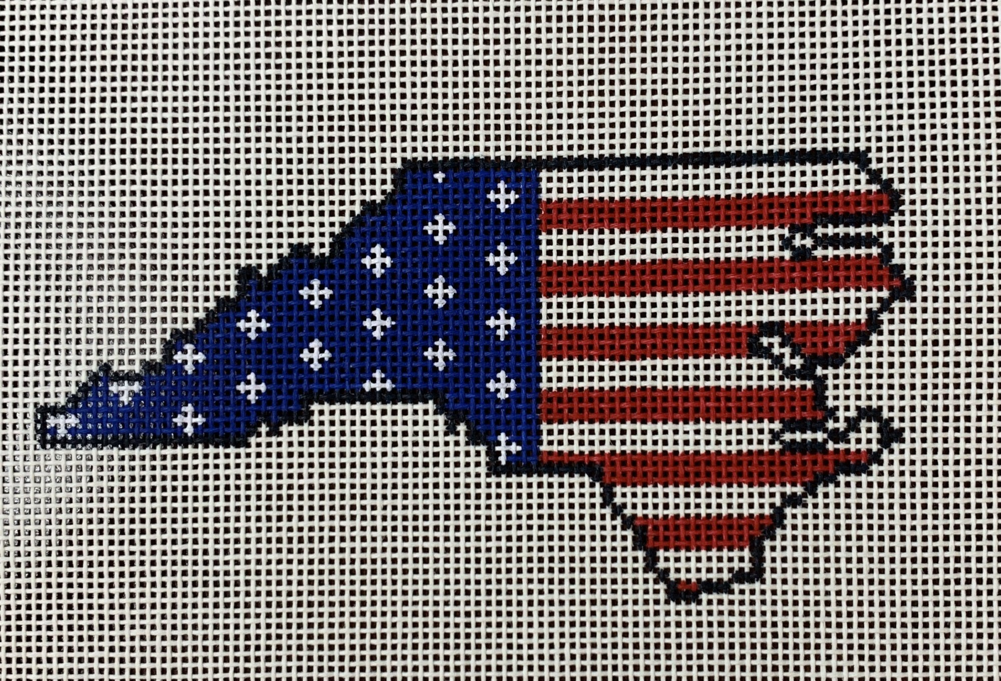 North Carolina State Shaped US Flag
