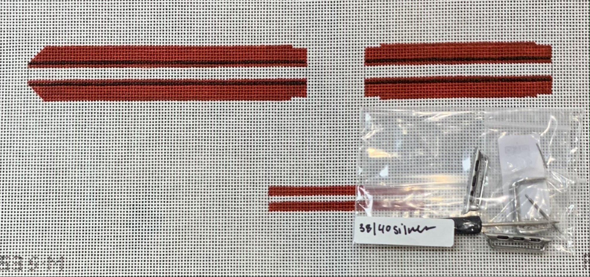 Apple Watch Band (Kit) - Red/Black/White Stripe