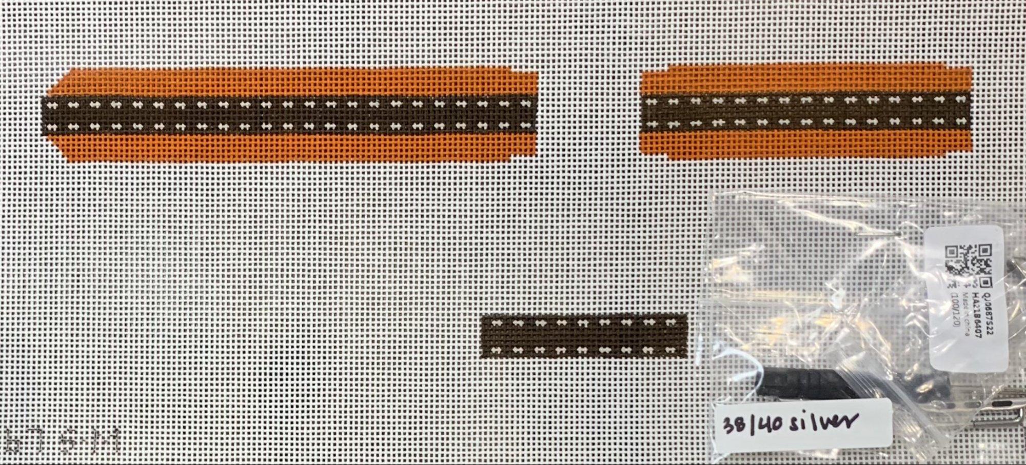 Apple Watch Band (Kit) - Brown Ribbon/Orange