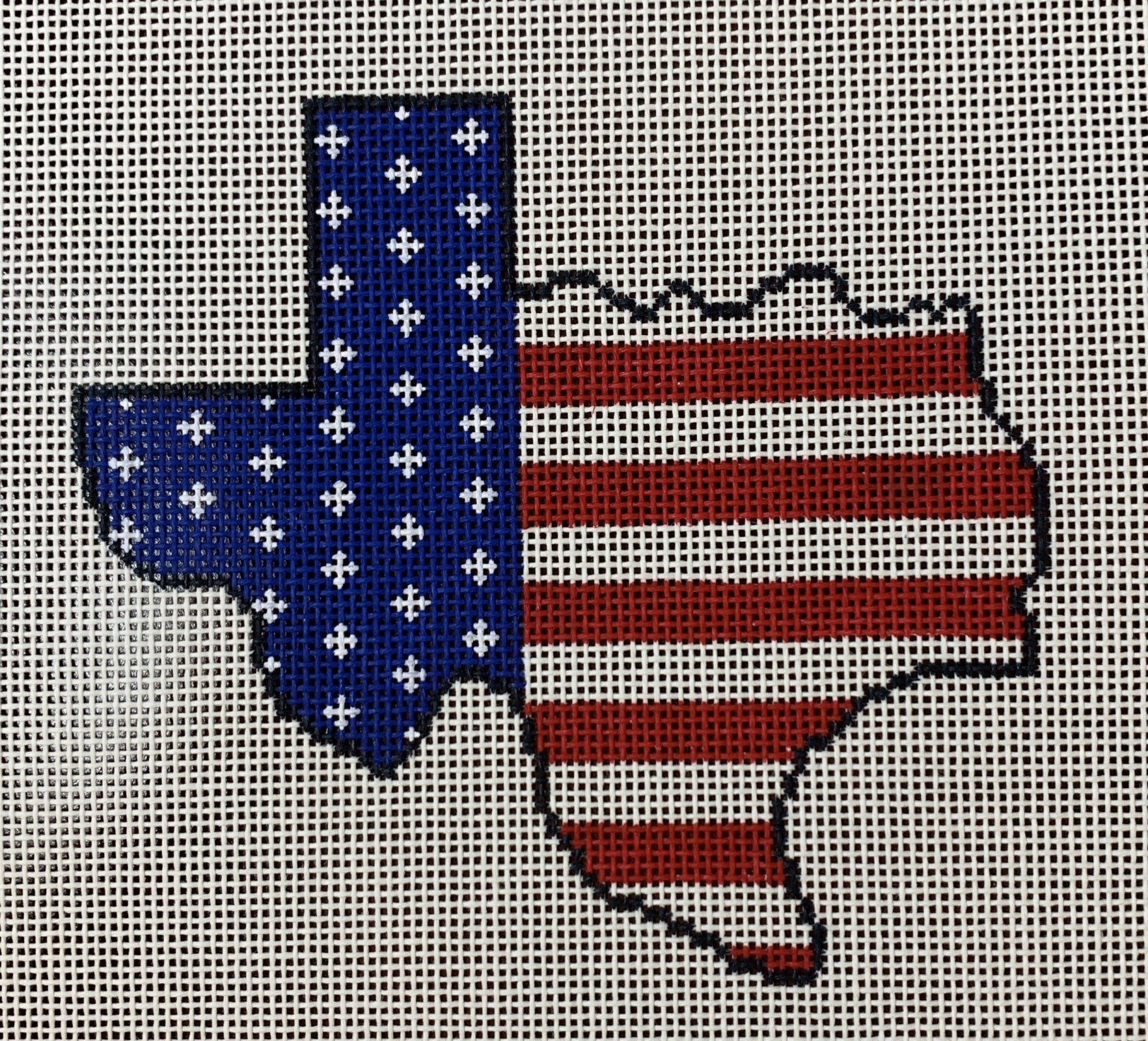 Texas State Shaped US Flag