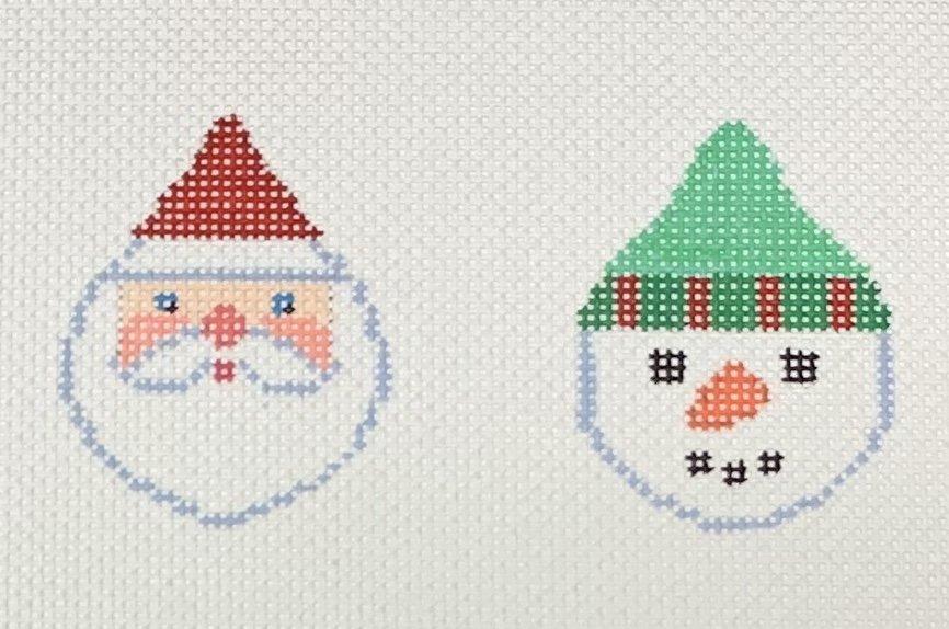 Santa/Snowman Faces Red/Green