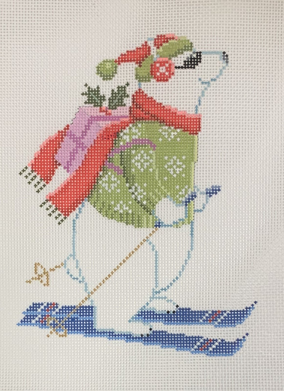 Skiing Polar Bear