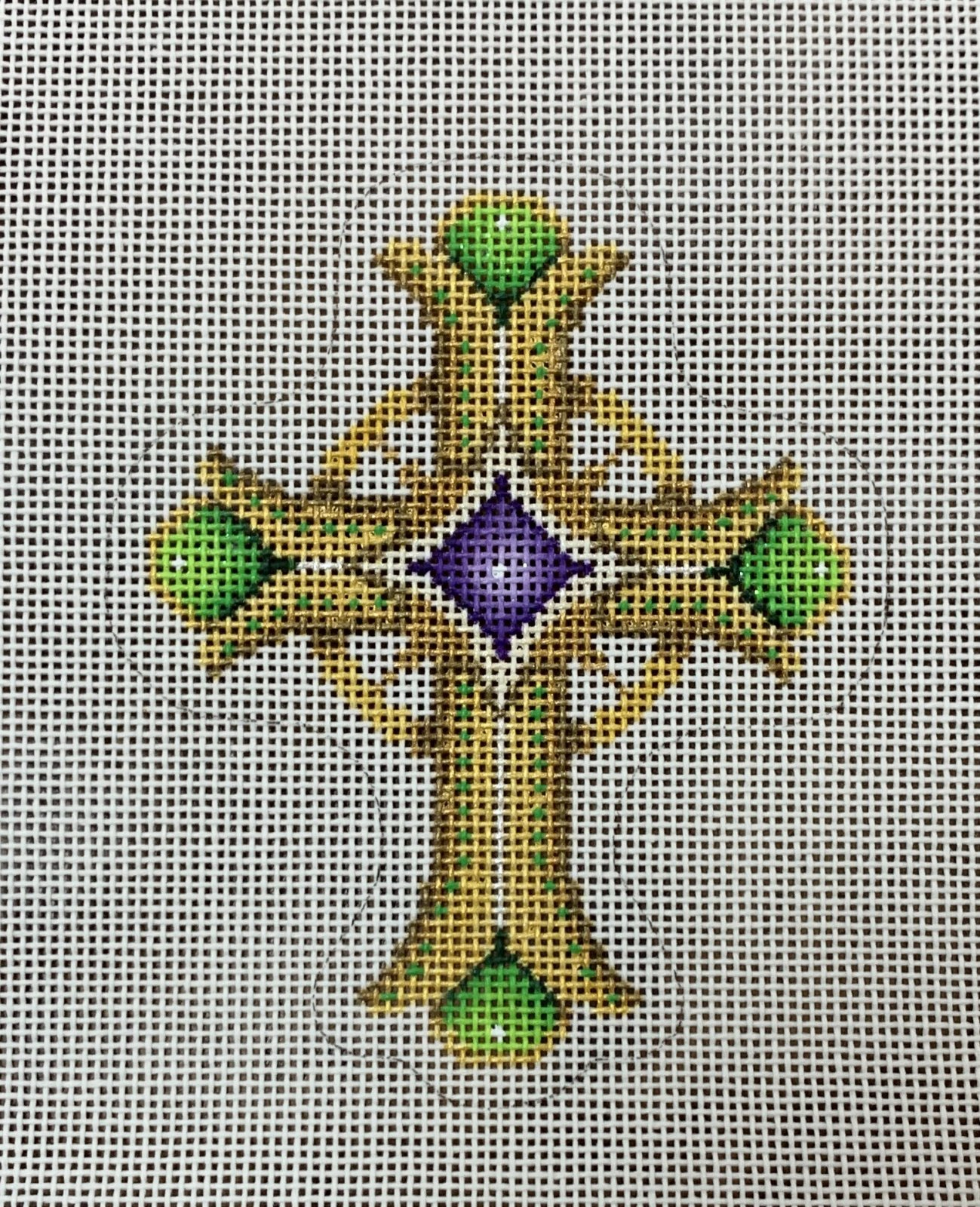 Cross - Gold and Green