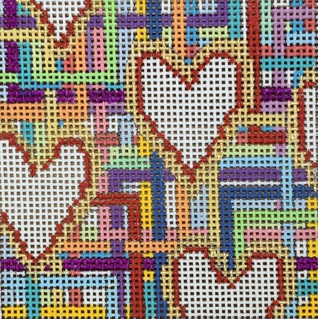 White Hearts Coaster