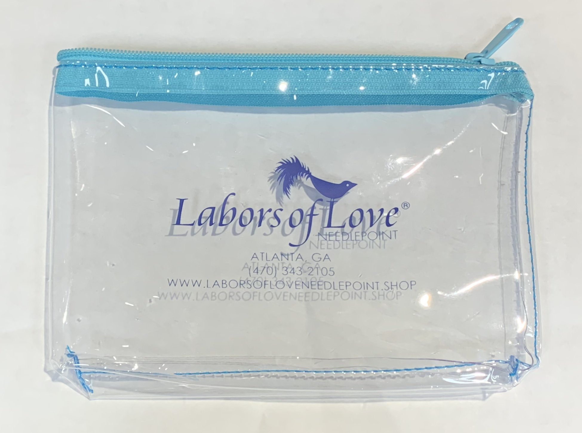 Clear Vinyl Logo Project Pouch - 8x5