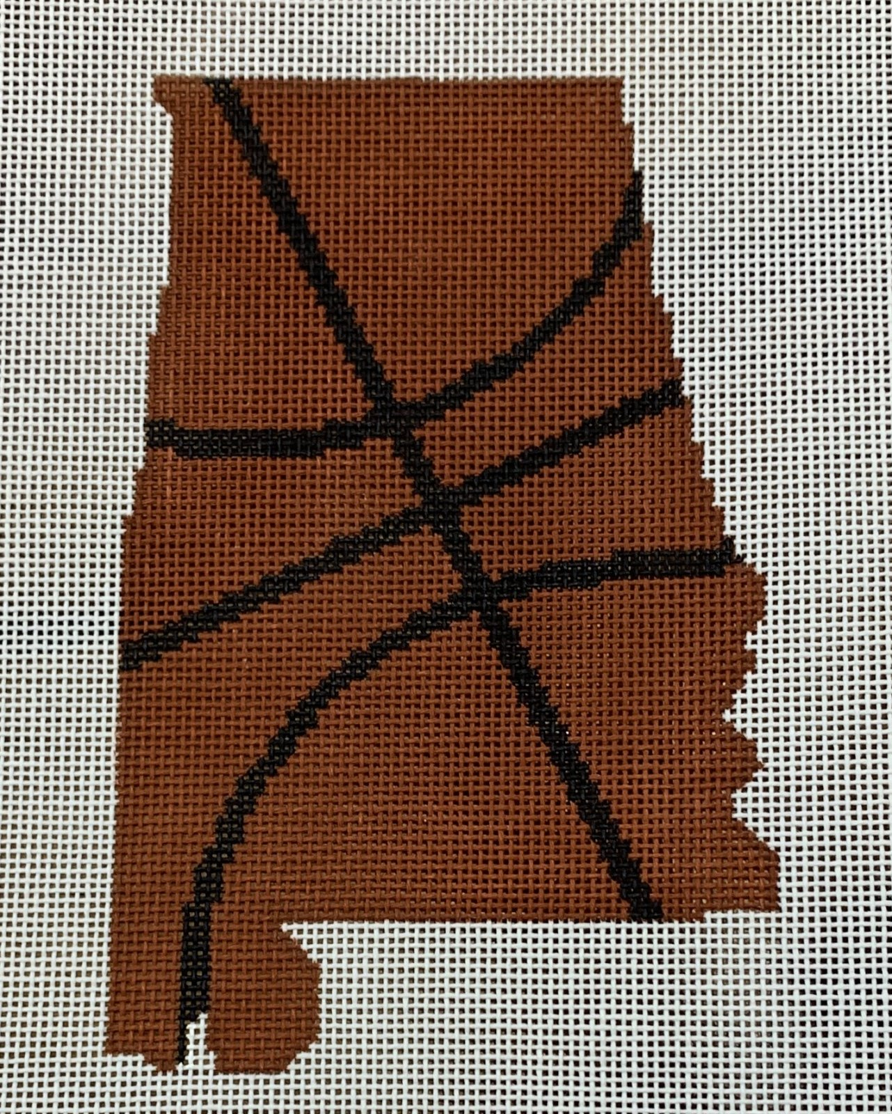 Basketball State Shaped - Alabama