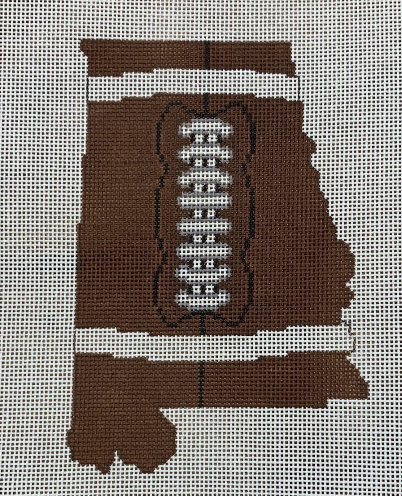 Football State Shaped - Alabama