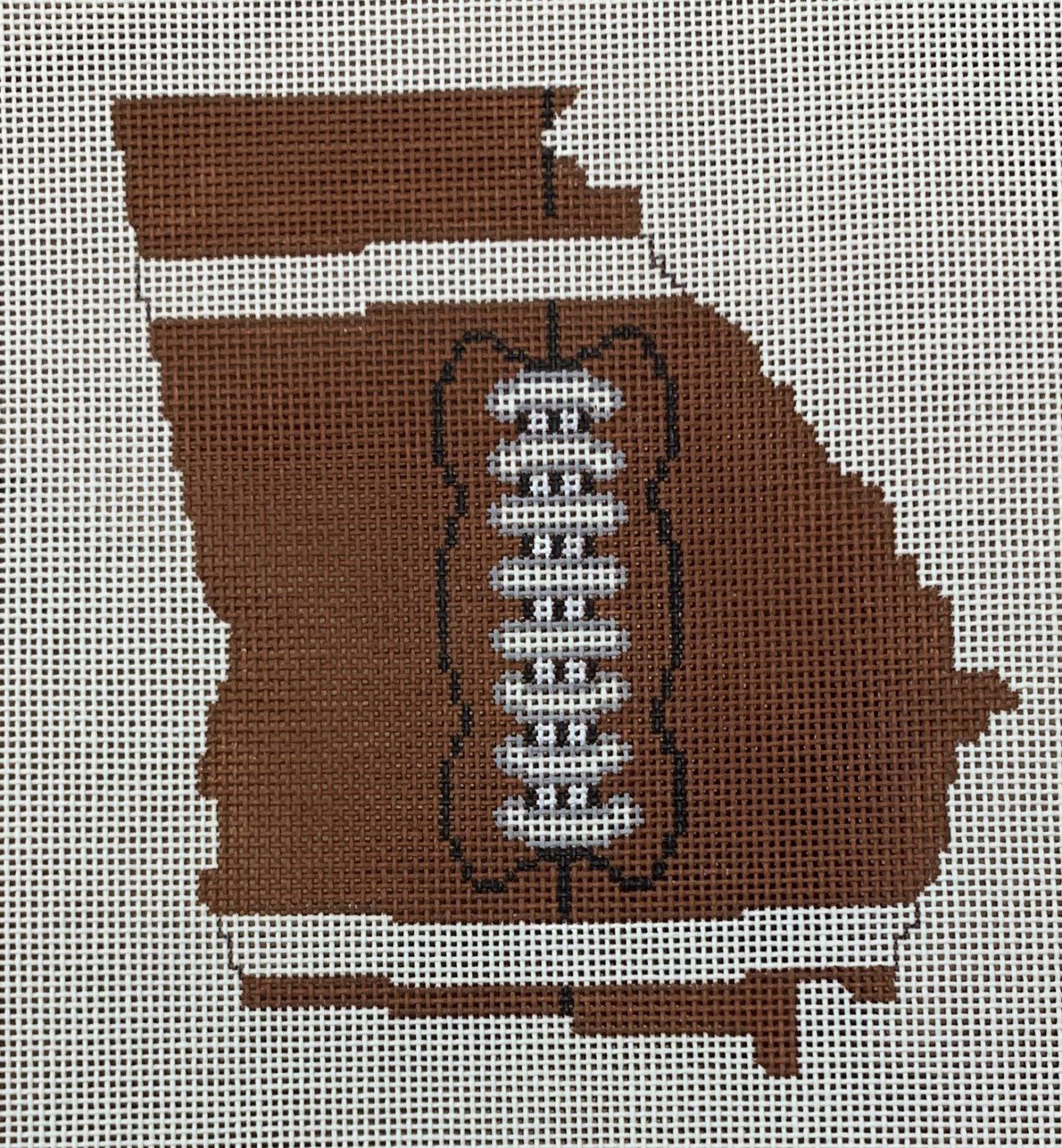 Football State Shaped - Georgia