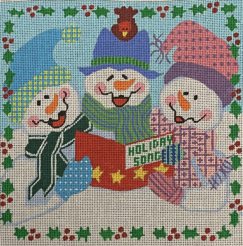 Caroling Snow People