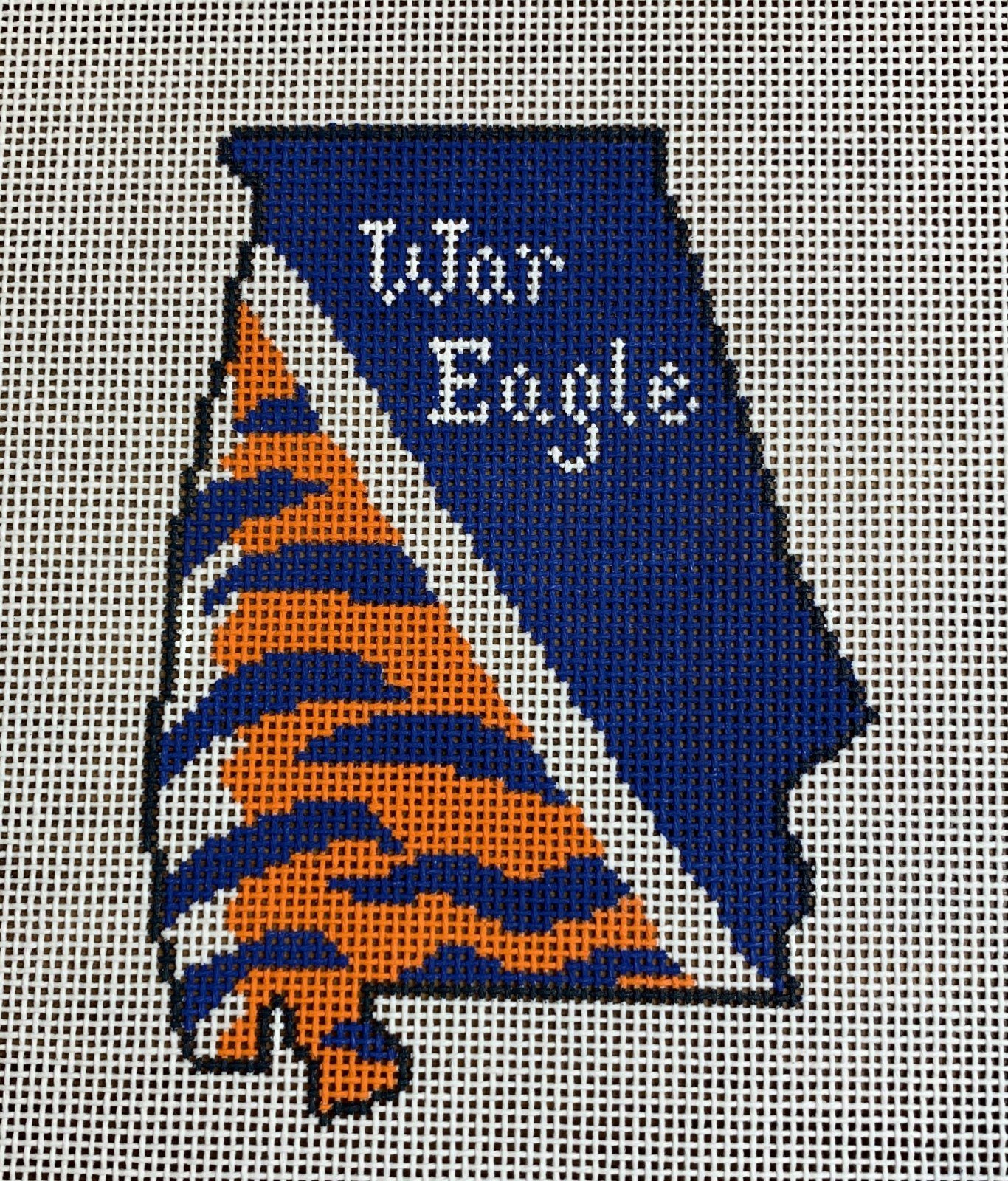 Alabama State Shape War Eagle