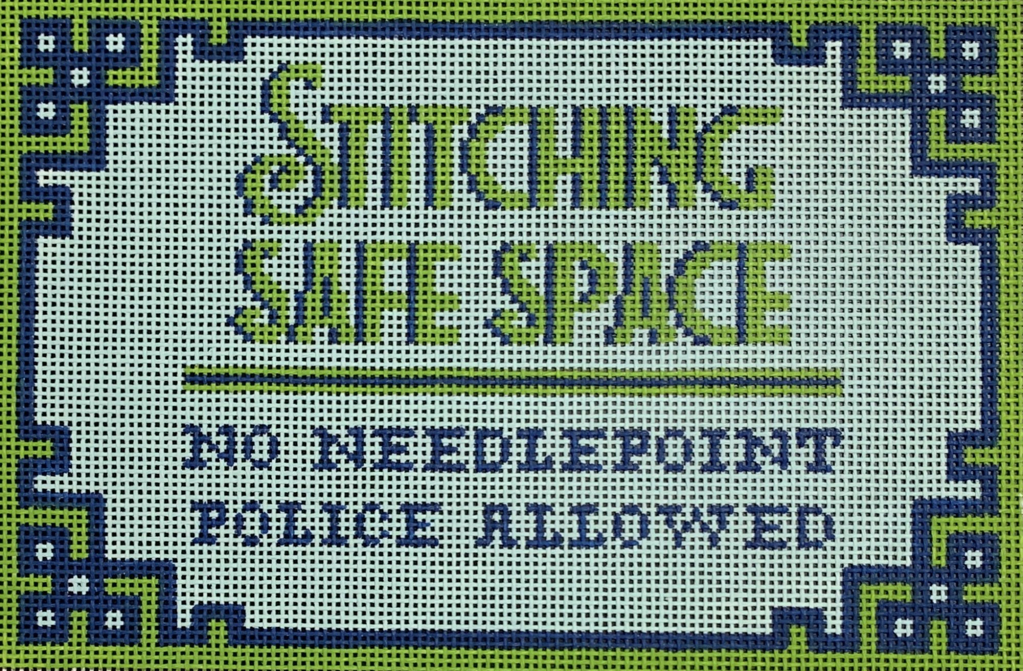 Stitching Safe Space Blue/Green