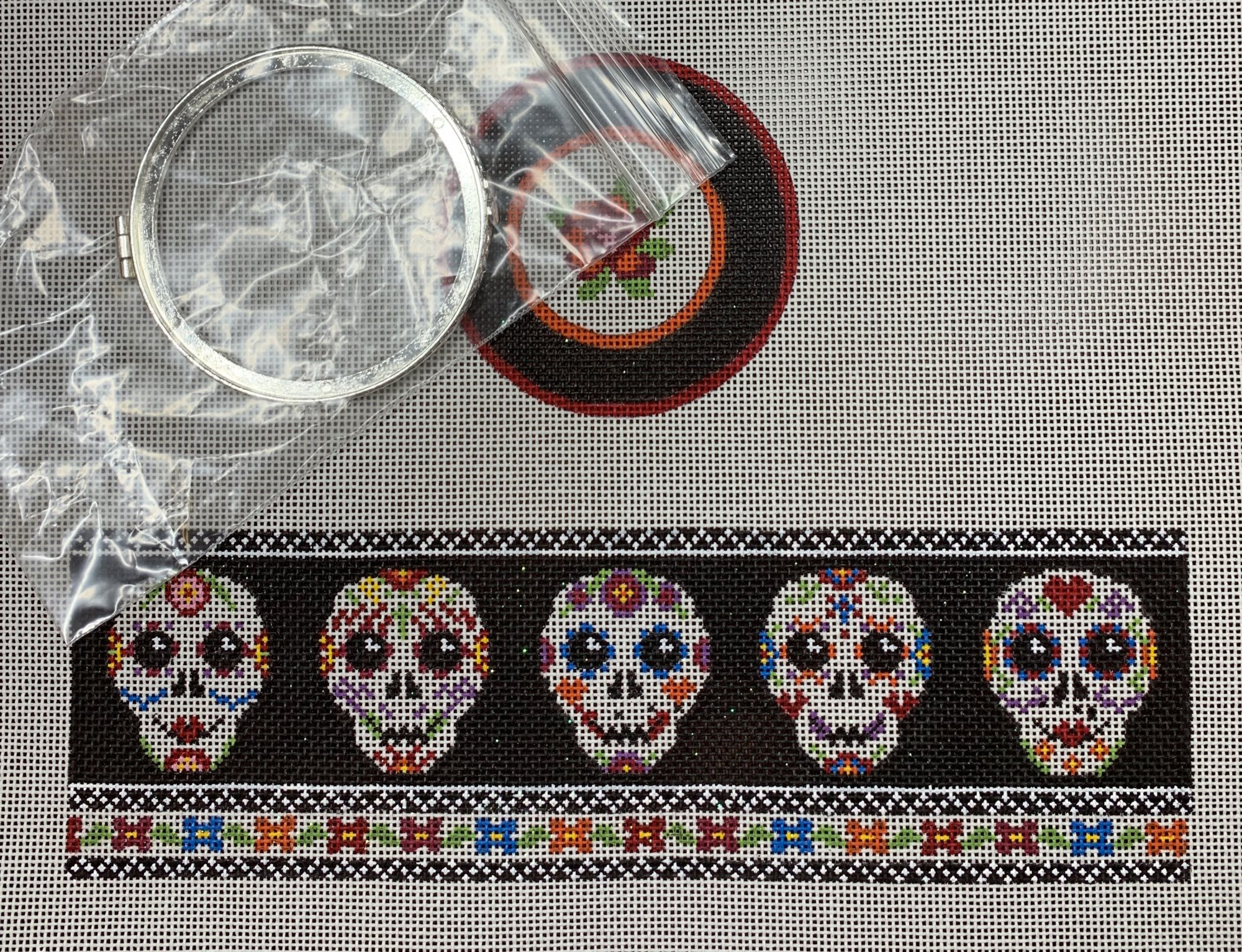 Skulls Day of the Dead Hinged Box