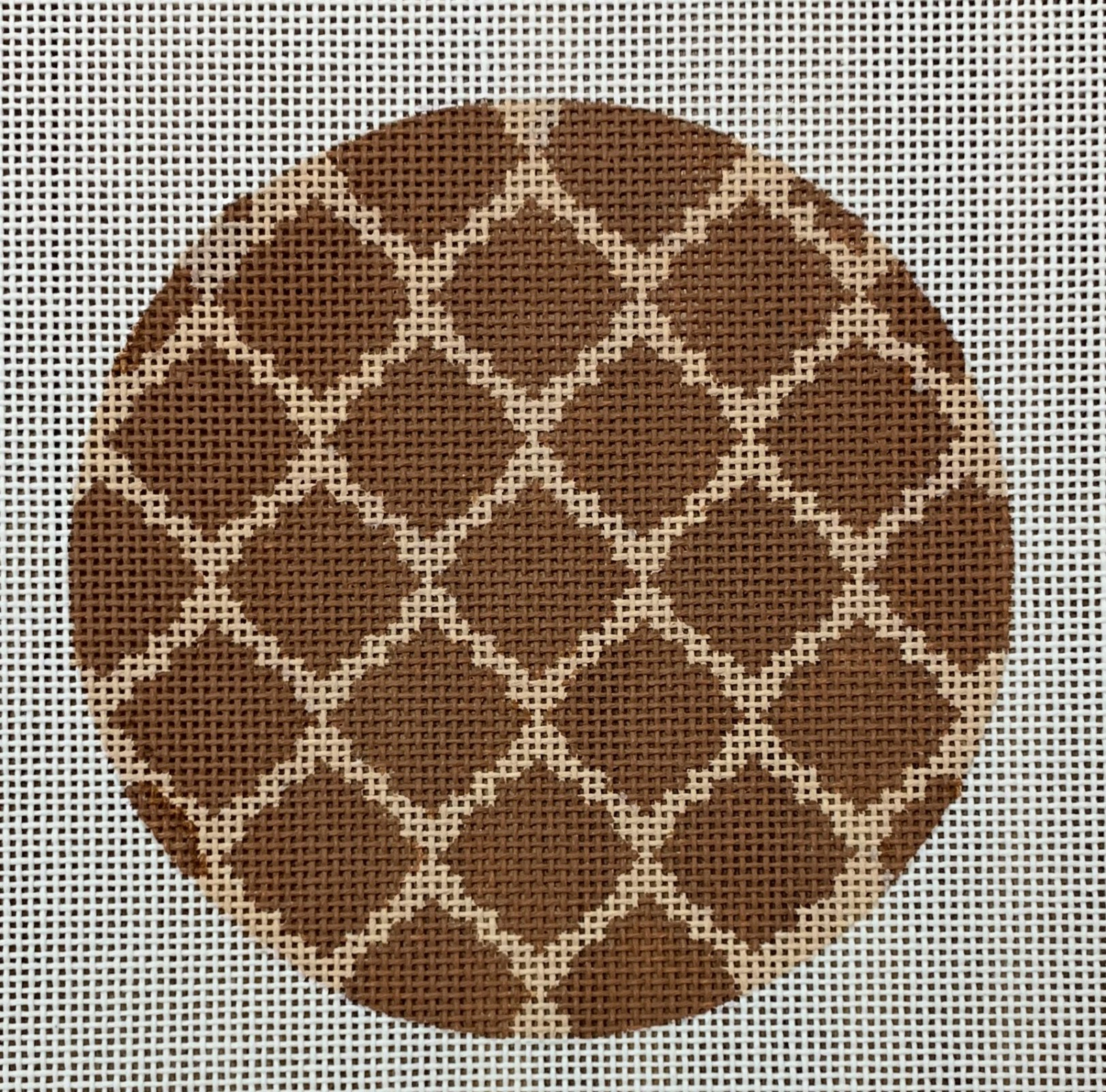 Brown Patterned Round
