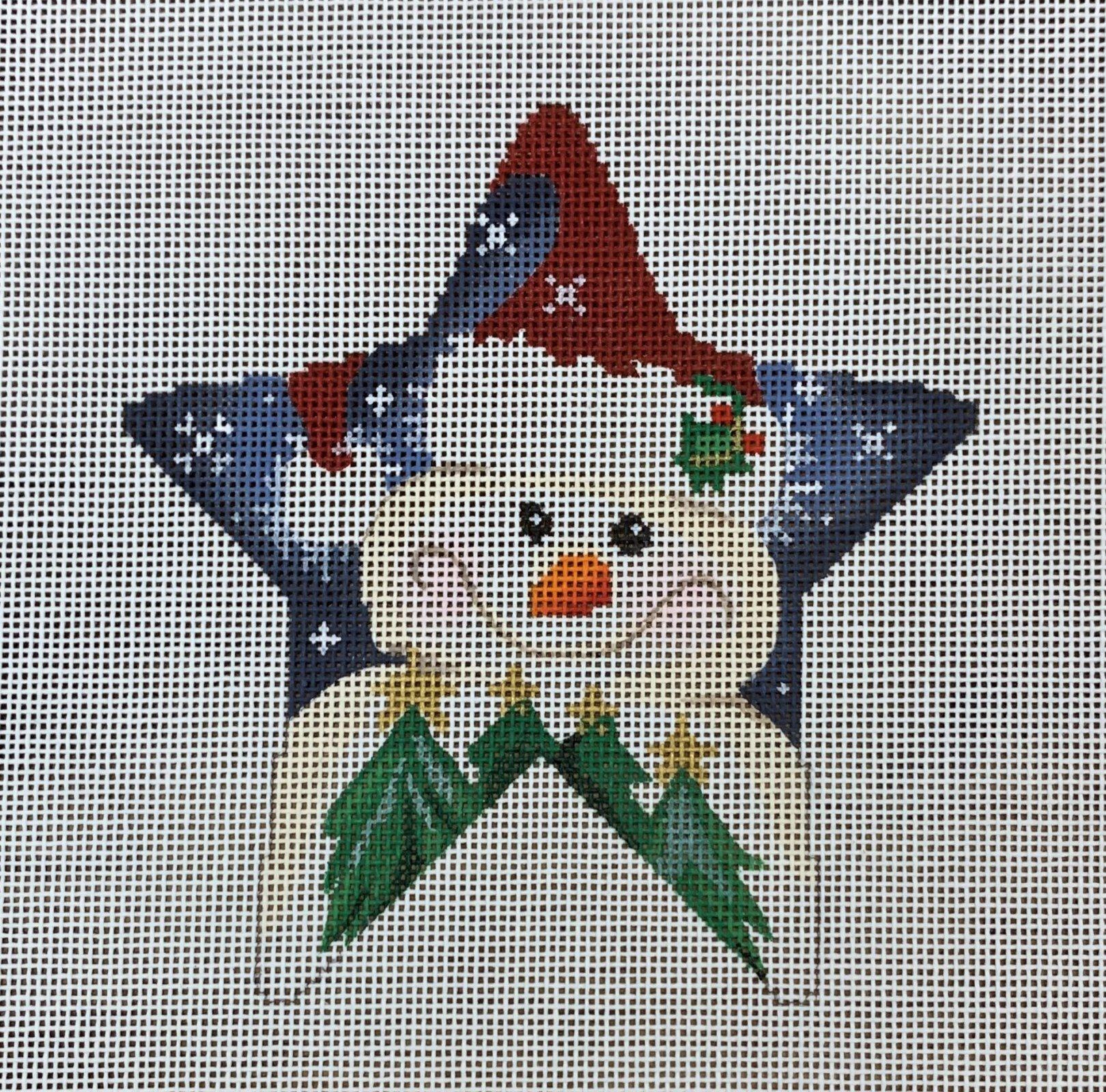 ATTSCT1704 Snowman Star  4.75x5  18