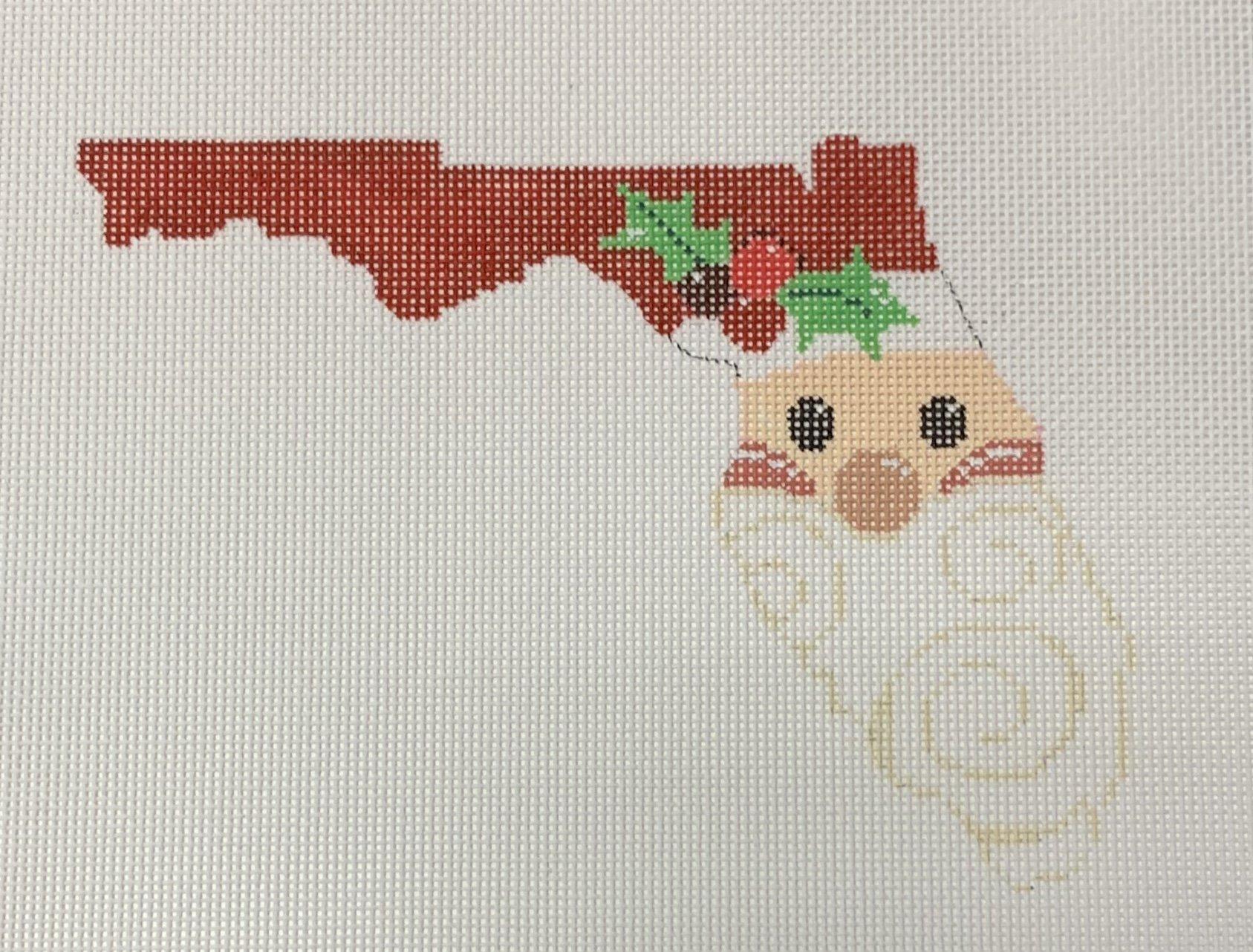 Florida State Shaped Santa