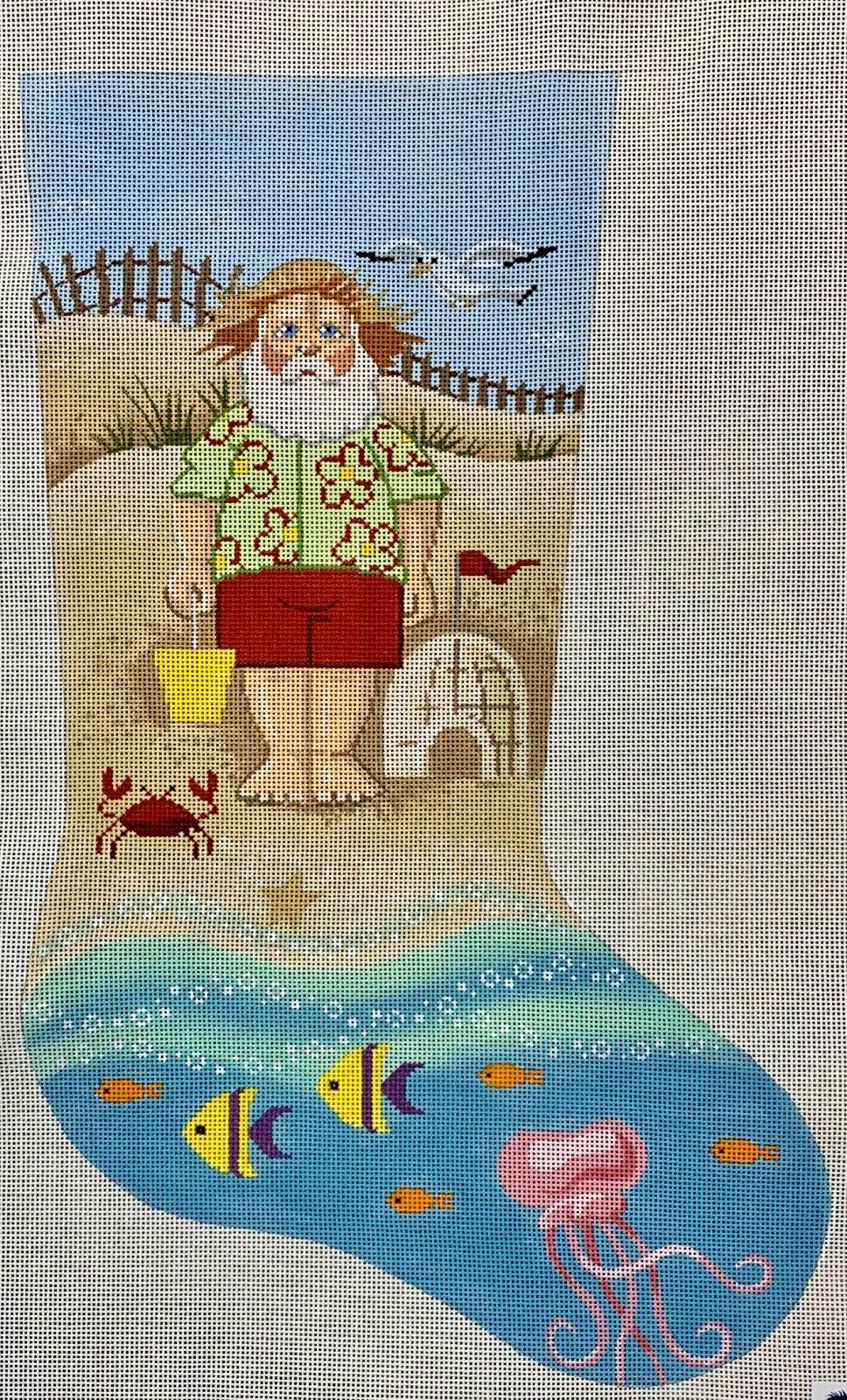 LL153A Beach Santa Stocking