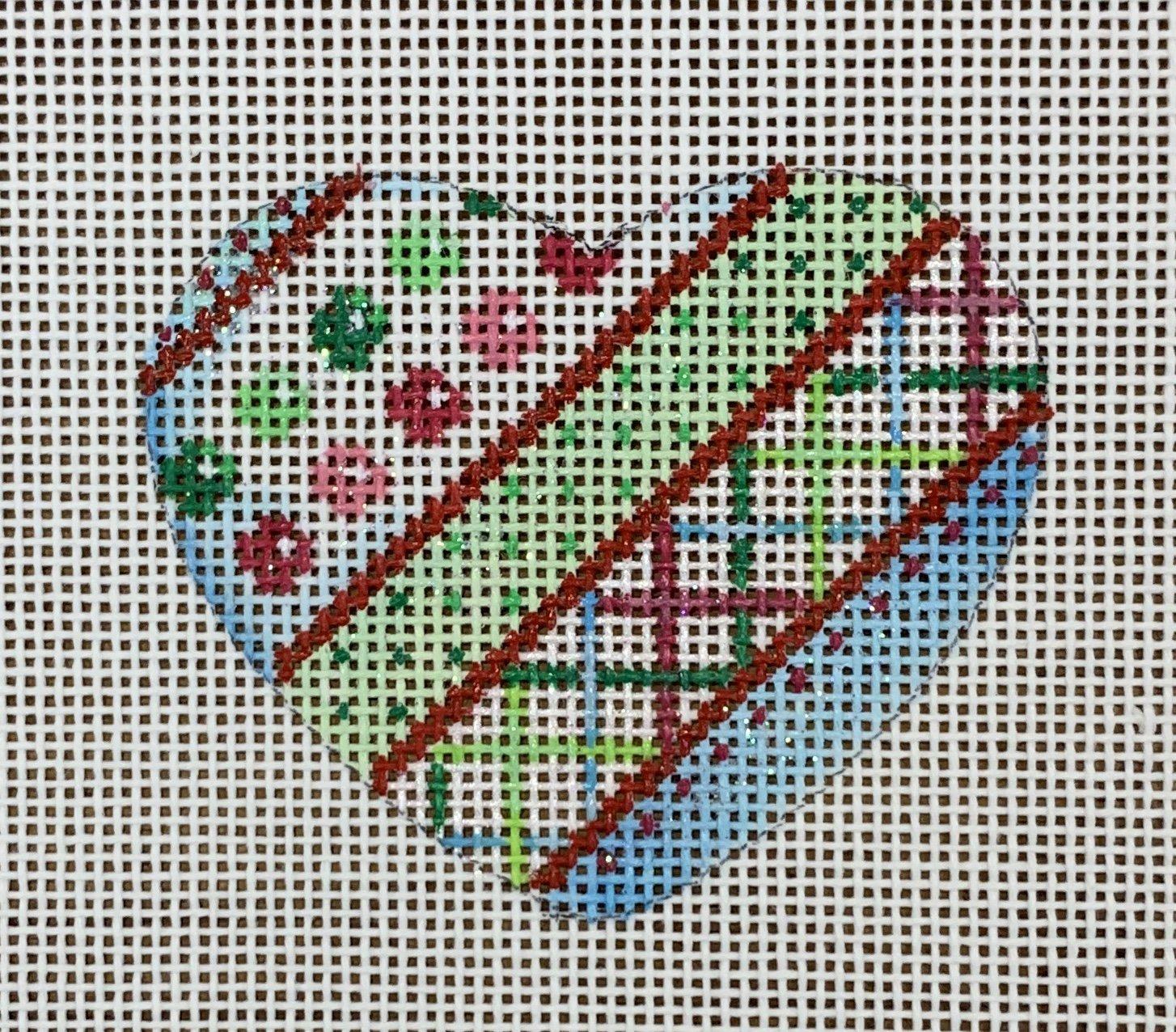 ATTSHE639 Diagonal Stripes/Dots Mini Heart