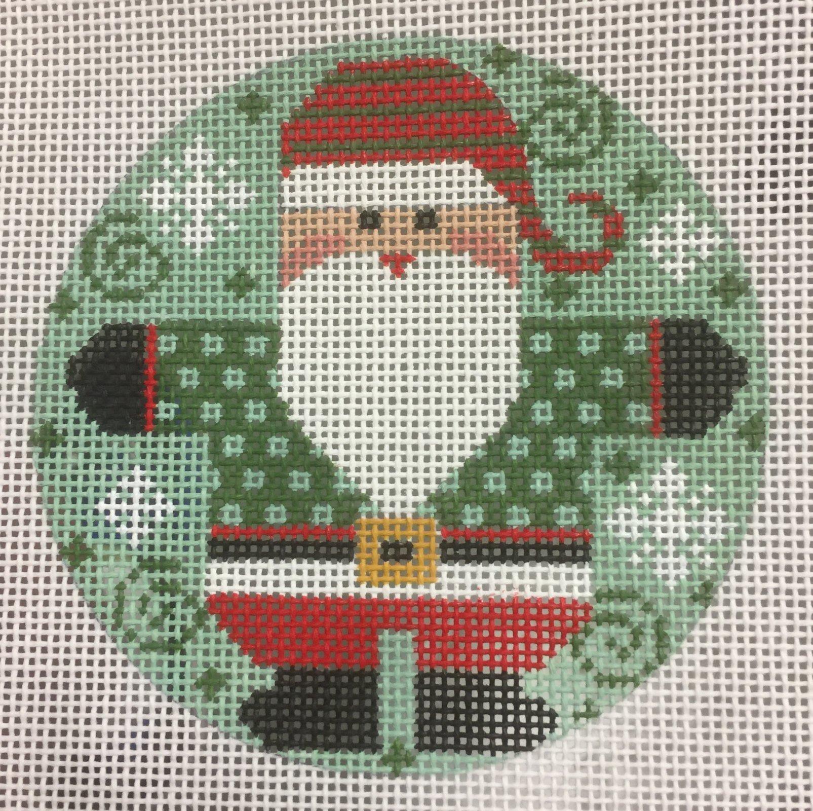 Santa Round - Checkered Coat in Greens