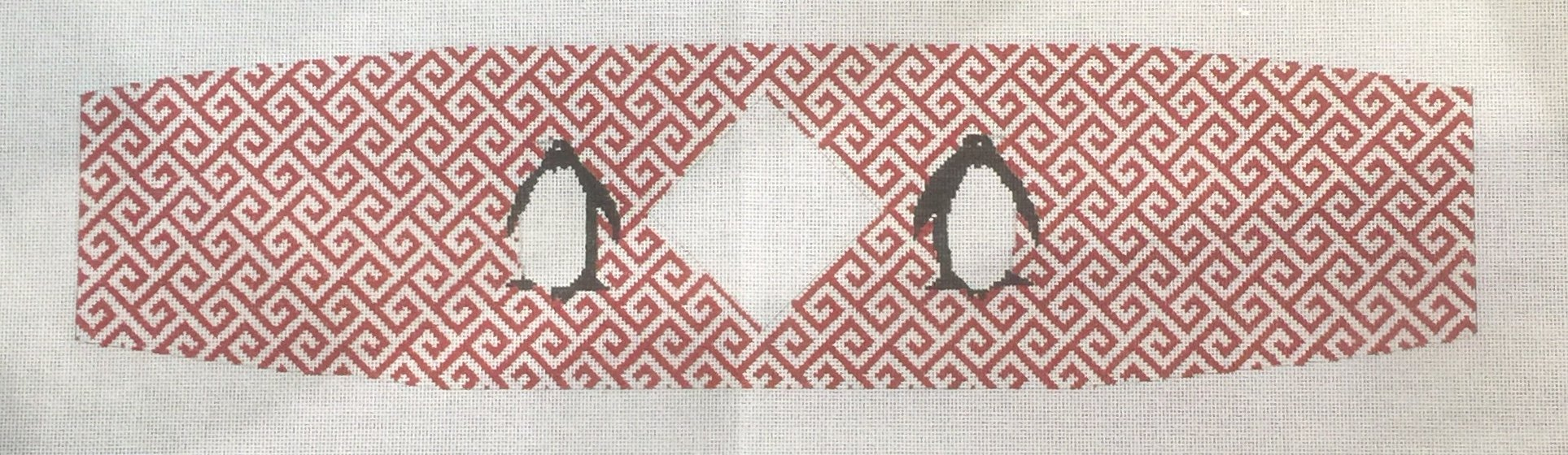 Cummerbund - Penguins with Fretwork with monogram