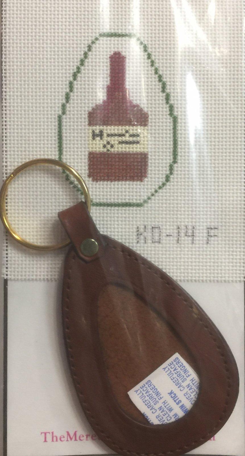 Leather Key Fob - Whiskey Bottle