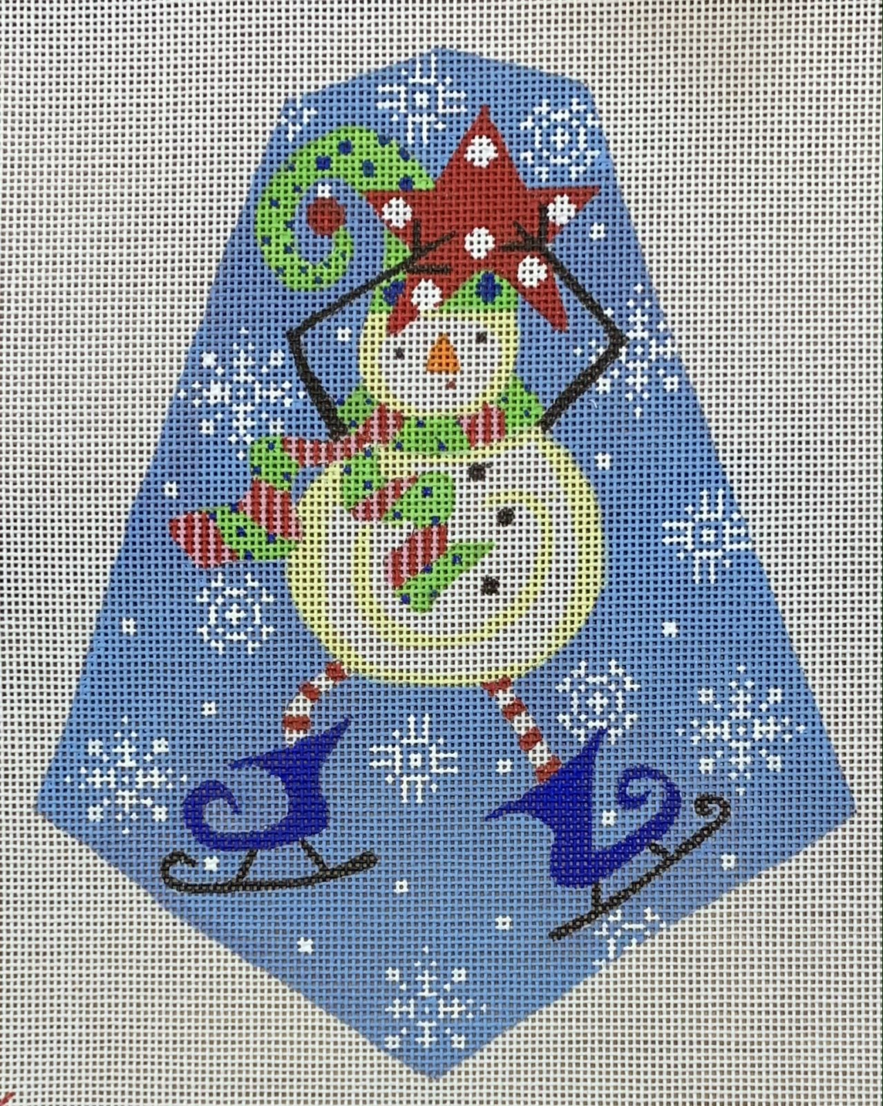 Funky Snowman with Skates