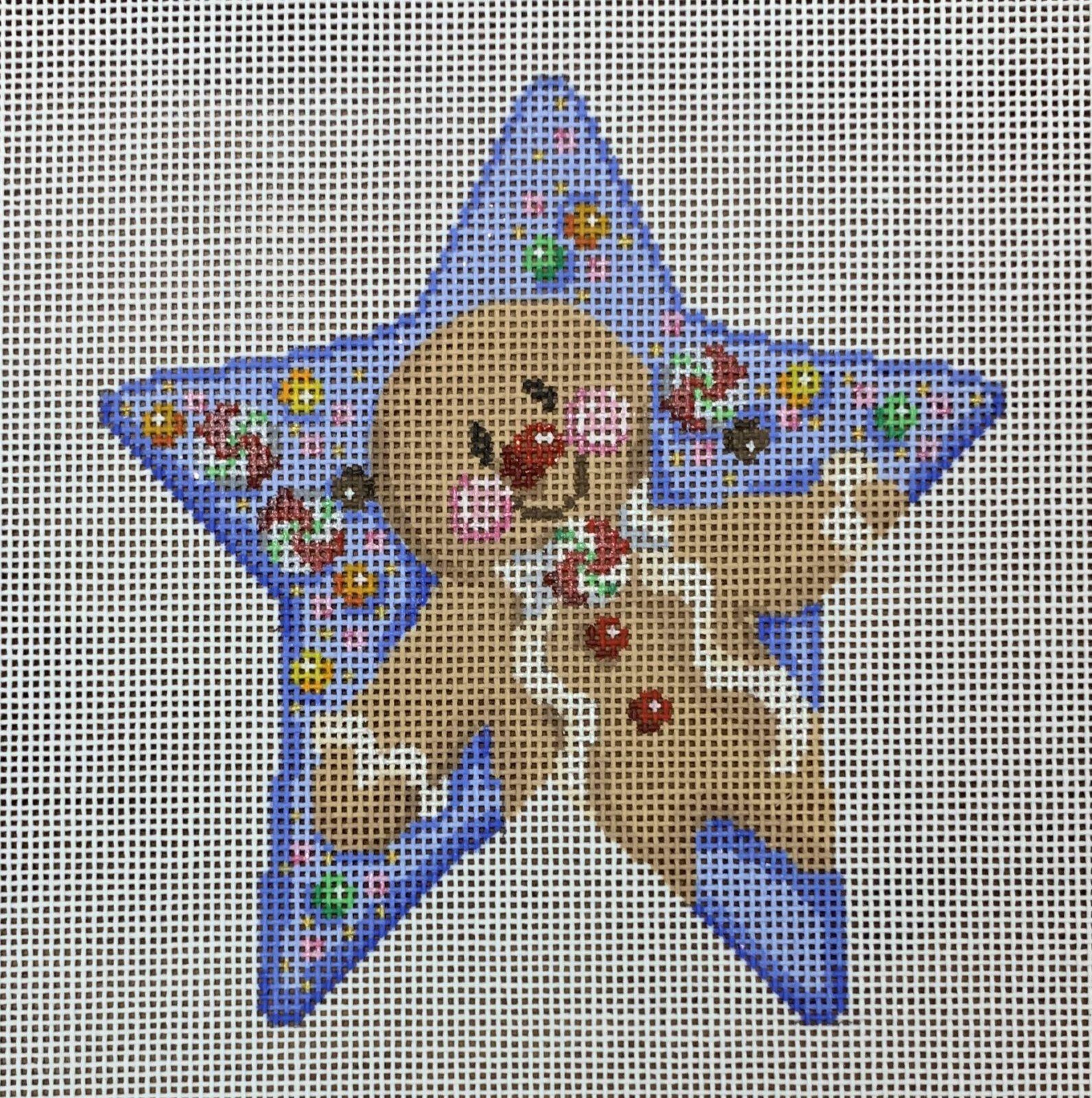 ATTSCT1706 Gingerbread Boy Star  4.75x5  18