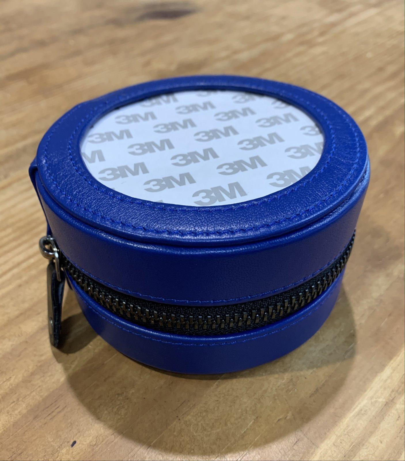 Lamb Skin 4 Round Case - Royal Blue