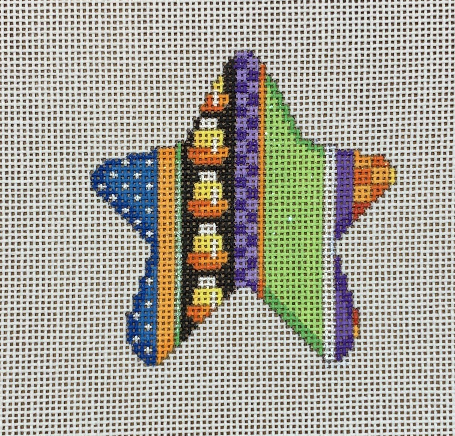 ATTSEE1405 Candy Corn Stripe Halloween Mini Star  3 x 3 18