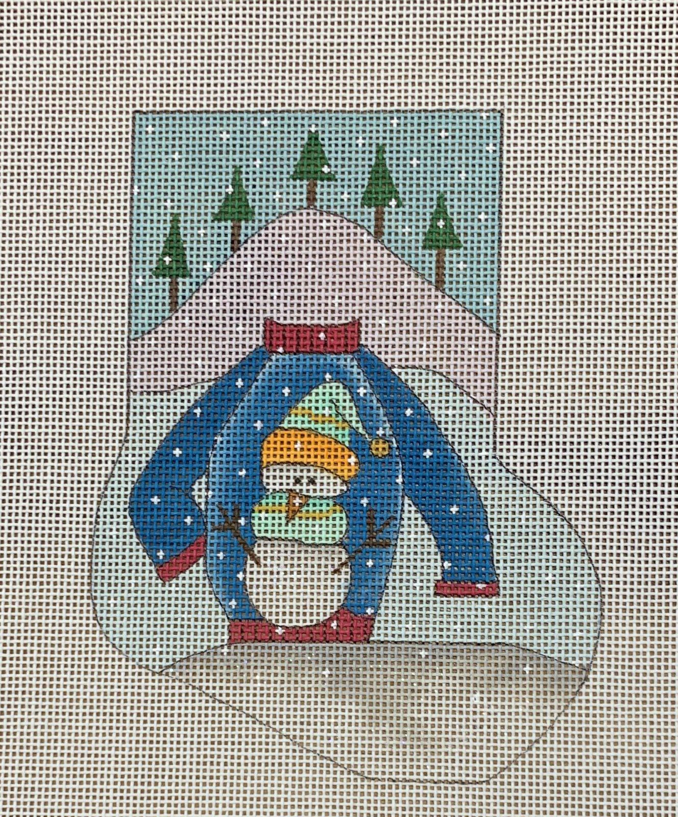Ugly Sweater Snowman Mini Sock