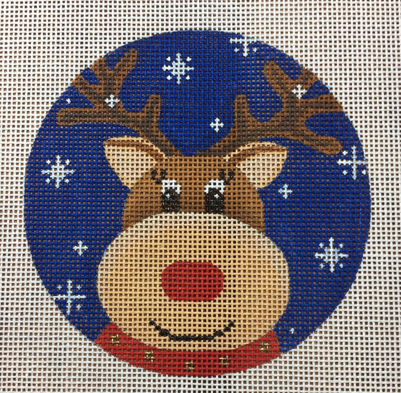 Reindeer Blue Snowflake