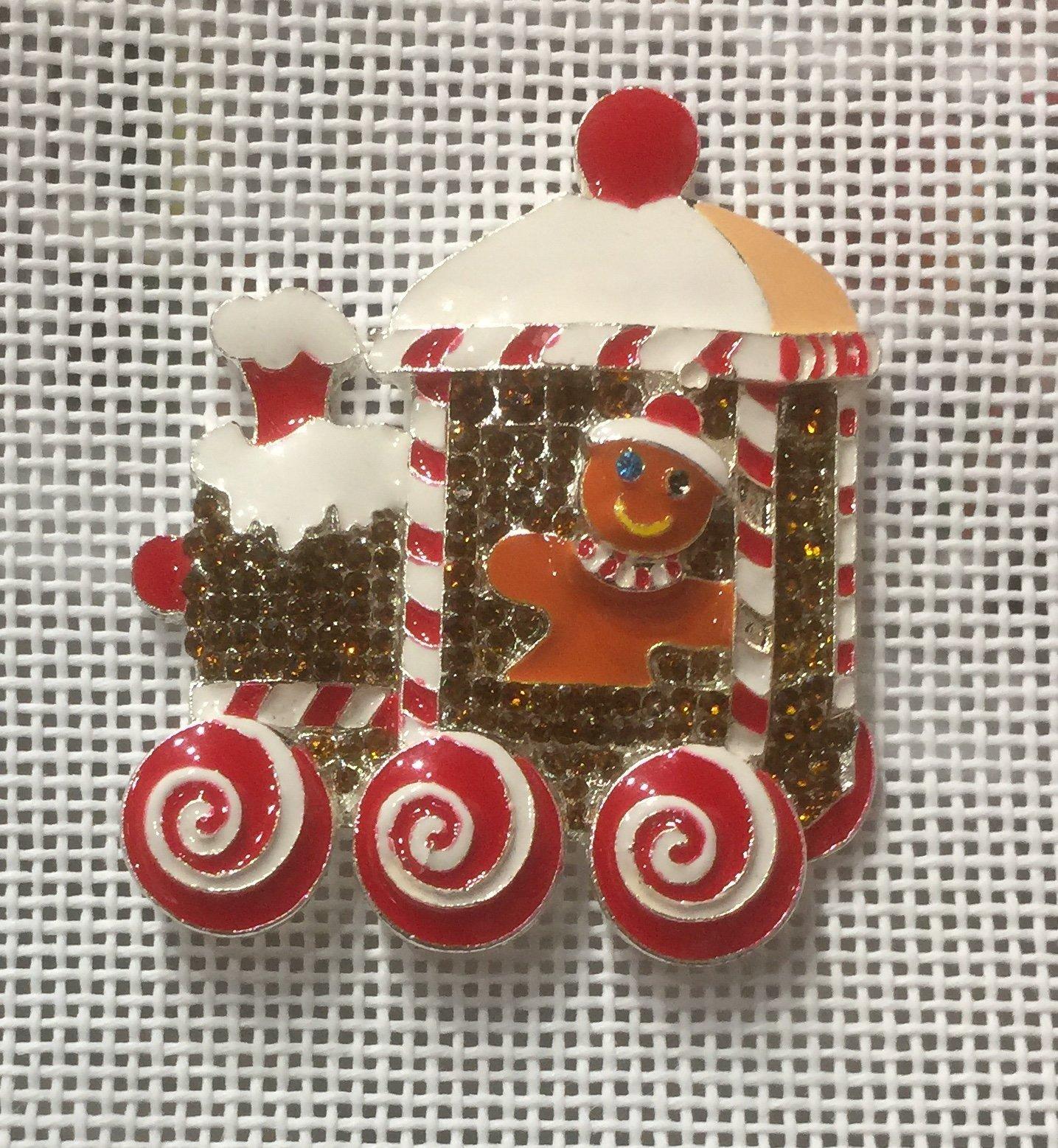 Christmas Train Needle Minder Magnet