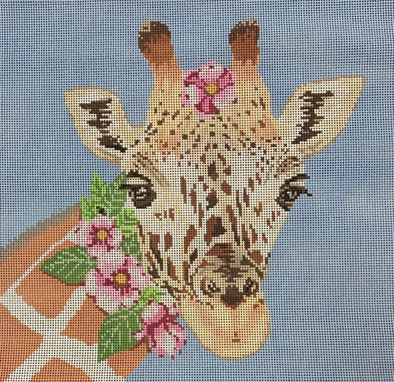 Giraffe w/Pink Flowers
